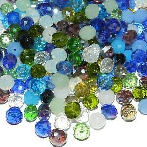 Steven_store CRL697 Blue Mix Color & Finish 10mm Rondelle Faceted Crystal Glass Beads 100pc Making Beading Beaded Necklaces Yoga Bracelets ()