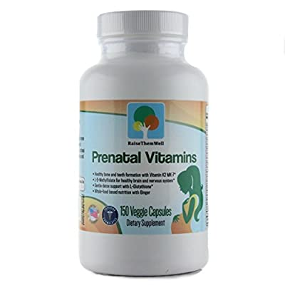 Physician Developed Prenatal & Breastfeeding Multivitamin. Formulated for Optimal Maternal and Fetal Health. Only Prenatal that has Vitamin K2 MK-7, Methylfolate, Methylcobalamin, and Glutathione.