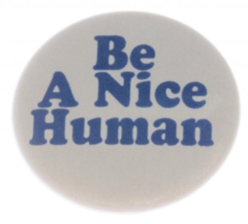 Nice Pinback Button - A&T Designs Unisex - Be A Nice Human 1.25