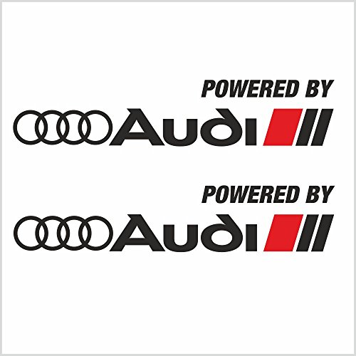 (Everything Graphix 2pcs Powered by Audi Sport Logo Stripes A4 A5 A6 A8 S4 S6 S8 R8 Skirts Decal Sticker M2 (12
