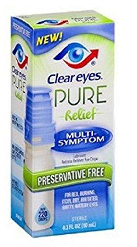 (Clear Eyes Pure Relief Multi-Symptom Eye Drops, 0.34 Fl Oz (Pack of 2))