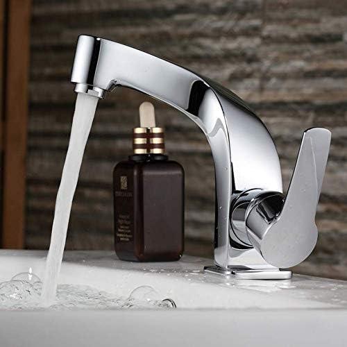 ZKS-KS 水タップ流域の蛇口シンクおしゃれなタップ浴室クロームミキサーシングルハンドル単穴の表面実装浴室のシンクの蛇口