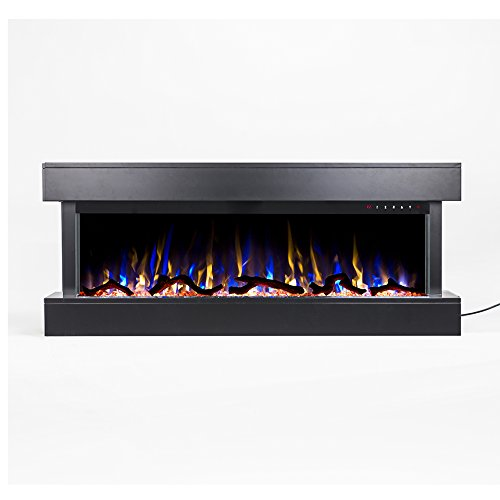"""Touchstone Chesmont 50"""" 80034 50"""" Black Mantle, Wall Hanging Electric Fireplace from Touchstone"""
