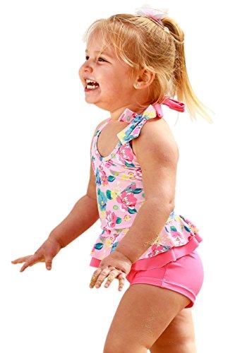 Baby Girls Frill Tankini Set-Boyleg Shorts - Frill Tankini Set