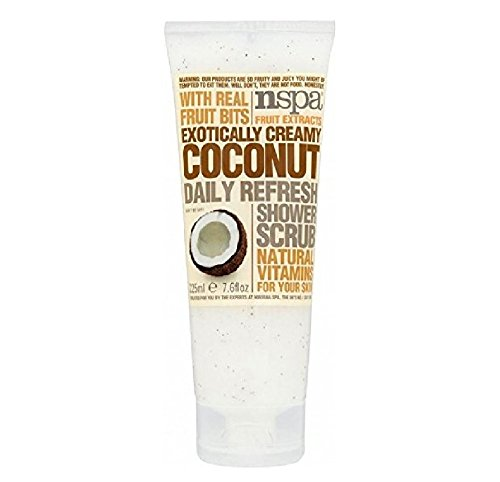 N-Spa Fruit Extracts Exotically Creamy Coconut Daily Refresh Shower Scrub (225ml) - Pack of 2