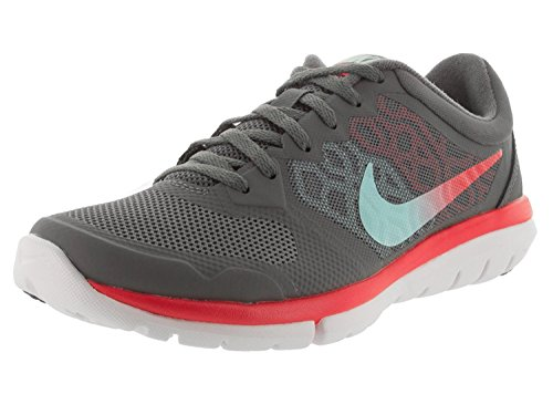 Nike Womens Flex 2015 Rn Dark Grey/Copa/Lt Crmsn/White Running Shoe 6 Women US, Dark Grey/Crimson/White/Copa, 36.5 B(M) EU/3.5 B(M) UK