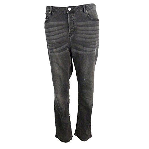 EX Marks M amp;S Spencer Jeans Court Cendre Jambe Taille and Moyenne Droite UUEqf4wr