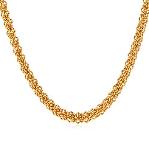 Stamp Style Plated Chain Neckklace