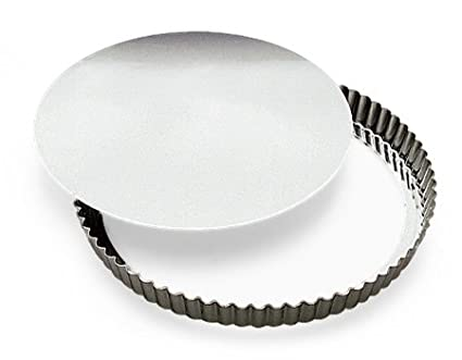 Paderno World Cuisine 47587-10 4 Inch Fluted Tin Tart Mold with Removable Bottom 4029-82
