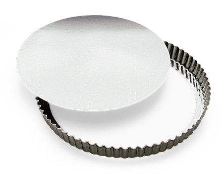 SCI Scandicrafts Fluted Tart/Quiche Mold, Removable Bottom 12-inch Diameter by 1-inch Deep by SCI Scandicrafts (Image #1)