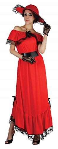 Bristol Novelty AC320 Scarlett O'Hara Costume, UK 10 - 14 -