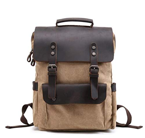 - Vintage Canvas Leather Backpacks For Men 14
