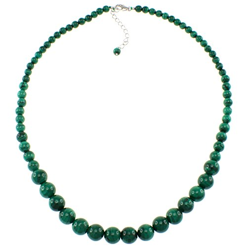 Pearlz Ocean Malachite Journey Necklace with Sterling Silver Clasp