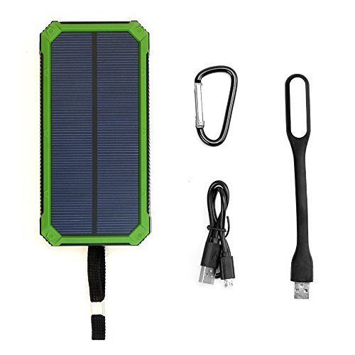 X-DRAGON Solar Charger Power Bank 15000mAh Dual USB Portable Solar Battery Charger for iPhone 7 7s 6 Plus 5S 5C 5 4S, iPod, Samsung Galaxy S6 S6 Edge, Gopro Camera, GPS and More(GRE) Gear And Gadgets X-DRAGON