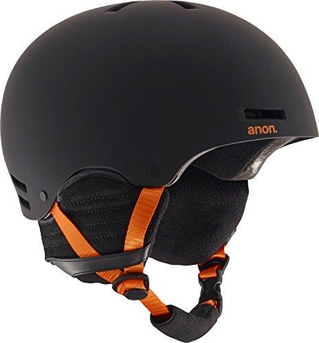 2012 Burton Mens Snowboard (Anon Men's Raider Helmet, Black/Orange, Large)