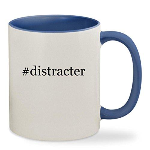 #distracter - 11oz Hashtag Colored Inside & Handle Sturdy Ceramic Coffee Cup Mug, Cambridge Blue