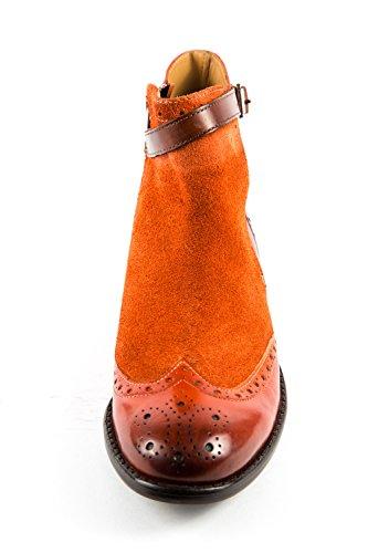 Eu Mujer Naranja amp; Lisa De Hamilton Para 37 Botas Melvin 341 Mh15 Piel Rwazqq7g