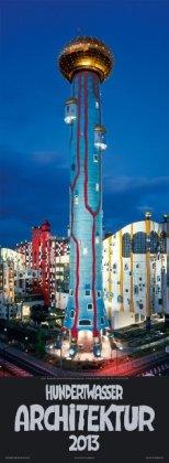 Hundertwasser Streifenkalender Architektur 2013: 3-Monats-Kalendarium