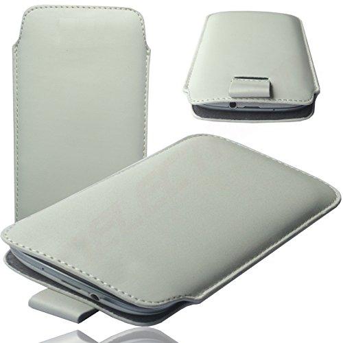 HQ WEIß Slim Cover Case Schutz Hülle Pull UP Etui Smartphone Tasche für Apple Iphone 8