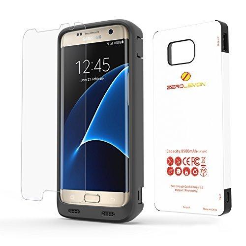 Samsung Galaxy S7 Edge Battery case + 9H display screen Protector, ZeroLemon S7 Edge 8500mAh Battery case having light TPU 100 % Edge Protection-Black having 9H Sceen Protector (NOT FOR SAMSUNG GALAXY S7)
