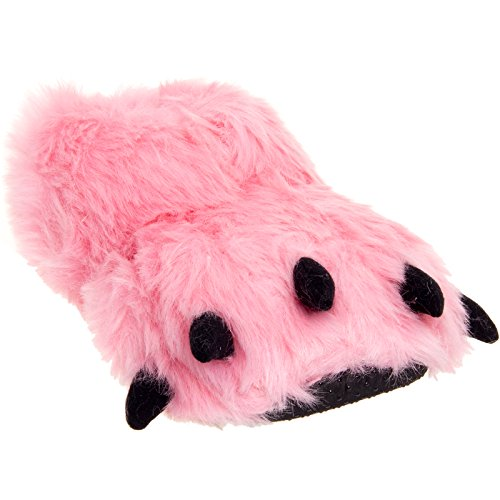 Silver Lilly Bear Paw Animal Slippers (Pink, (Grown Up Halloween Costumes Ideas)