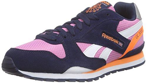 Reebok GL 3000 Zapatillas de running, Mujer Rosa / Azul / Naranja / Gris (Icono Pink/Navy/Electric Peach/Reflectve)