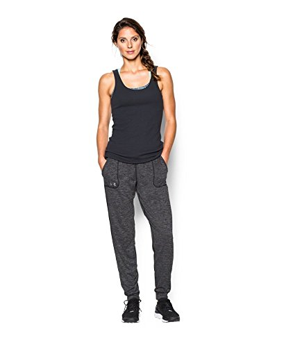 888728534560 - Under Armour Women's Twisted Tech Pant,Black/Metallic Silver, X-Large carousel main 2