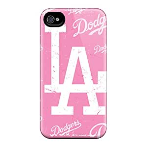 Tpu Case Cover For Iphone 4/4s Strong Protect Case - Los Angeles Dodgers Design