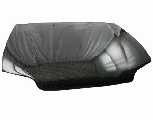 VIS Racing 92HDCVC2DOE-010V1C - Honda Civic Hb/2Dr Oem Carbon Fiber Hood With Fuzion V1 Pattern - 2dr Vis Carbon Fiber Hood