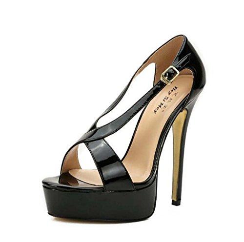 Zapatos Abierta Mujer Punta Plataforma Sandalias de Tac para U6AqXqxwT