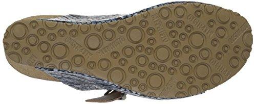 Lenia Sandal Mephisto Women's Wedge Reptilian Blue v6BTqW4Tx