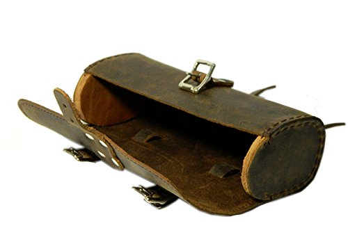 Herte Genuine Leather Bicycle Saddle Bag Utility Tool Bag Brown by Herte (Image #3)