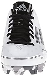 adidas Performance Women\'s Wheelhouse 2 W Softball Cleat, White/Black/Metallic/Silver, 7 M US