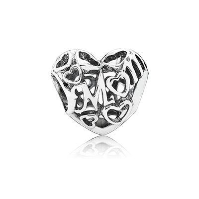 Pandora Women's 791519 Motherly Love Charm, Silver