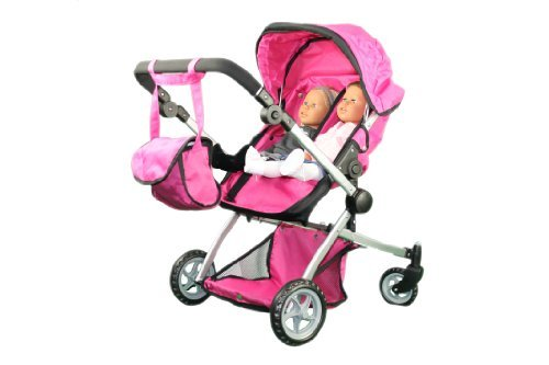 Babyboo Deluxe Twin Doll Pram/Stroller with Free Carriage  -