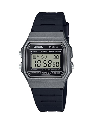 Casio Men's 'Vintage' Quartz Plastic and Resin Casual Watch, Color:Black (Model: F-91WM-1BCF)