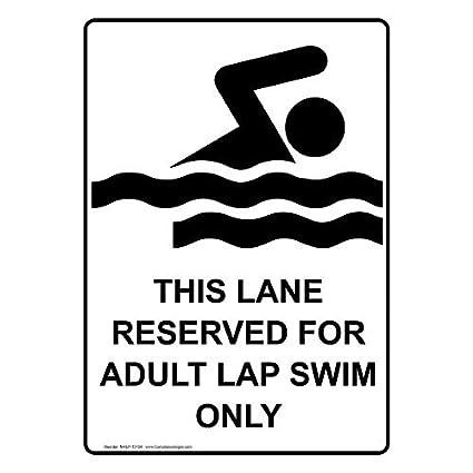 Amazon.com: Este Lane Reservado para adultos sólo Lap Swim ...