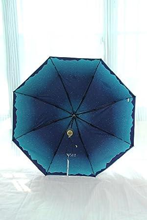MAYUAN520 Paraguas Super Ligero Bloqueador Solar Fibra De Carbono Plegado Paraguas Sombrilla Vinilo Paraguas,Amarillo