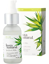 Glycolic Acid Peel 30% - With Vitamin C, Hyaluronic Acid - Best Treatment to Exfoliate Deep, Minimize Pores & Reduce Breakouts, Appearance of Aging & Scars - InstaNatural - 1 oz
