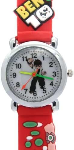 TimerMall Original Water Resistant Cartoon Ben10 Quartz Red Watches