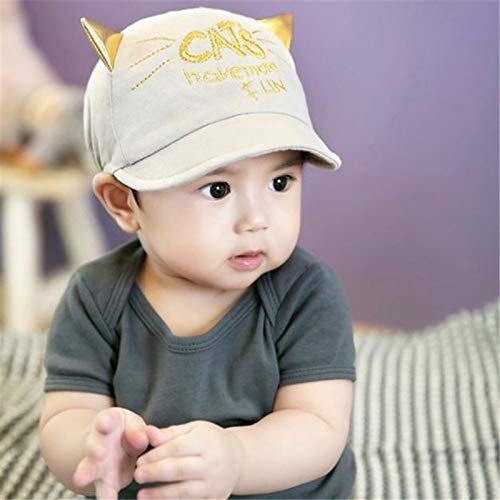 ❤️ Mealeaf ❤️ Toddler Infant Sun Cap Summer Outdoor Baby Girls Boys Sun Baseball Hat Grey(Grey,)