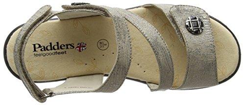 A Cinturino Tacco Col Vienna Scarpe T metallic Con Padders Argento Donna 7XUqYfw7