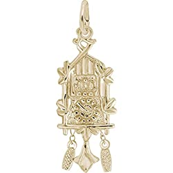 Rembrandt Cuckoo Clock Charm - Metal - Gold-Plated Sterling Silver