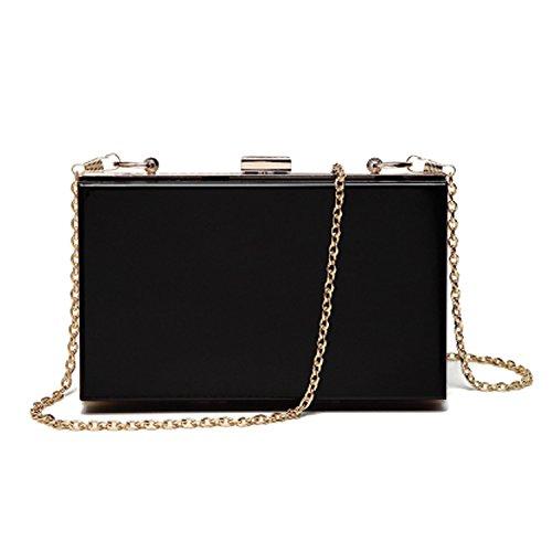 Lanpet Women Acrylic Transparent Evening Clutches Shoulder Bag Cross-Body Purse Party Bag (black) by Lanpet