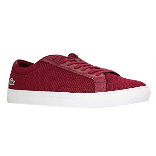 Lacoste , Chaussures de ville à lacets pour homme rouge