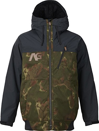 Analog Greed Snowboard Jacket - Men's Ink Blot Camo/Black 2X-Large
