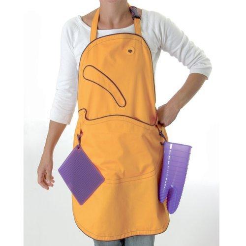 Buy orka by mastrad orka mustard clip lock apron