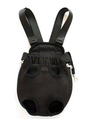 Petroad Black Color Large Size Mesh Comfortable Pet Legs Out Front Backpack/ Pet Carrier/Bag