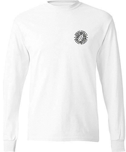 (Koloa Surf Honu Hawaiian Turtle Logo Long Sleeve Cotton T-Shirt-White/b-S)