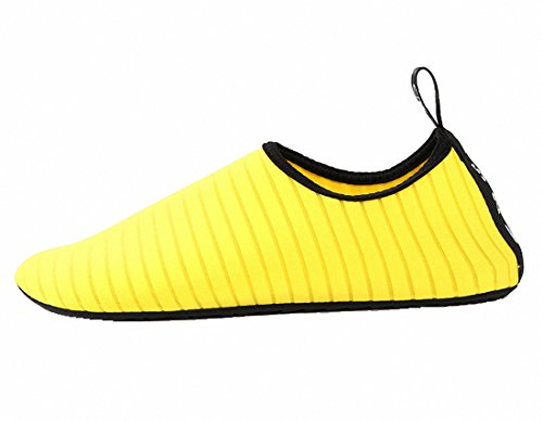 papala Mens Womens Kids Barefoot Quick-Dry Water Shoes Yoga Aqua Socks Slip-On Sneakers Yellow fMvQGjxwl